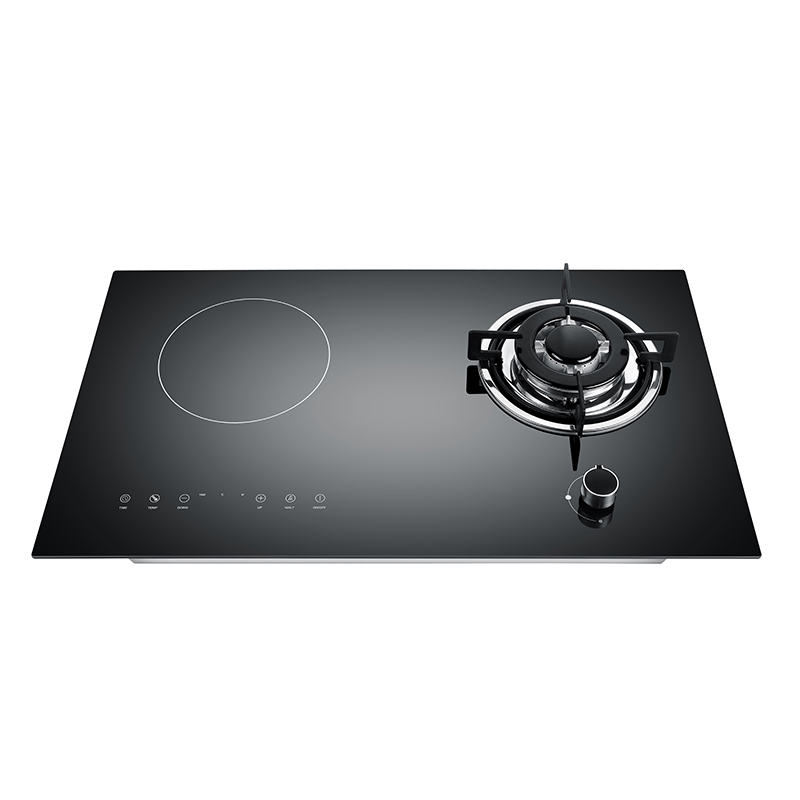Kingbright Gas & Electric Mixed Black Glass Cooker 730mm KQD2-C02
