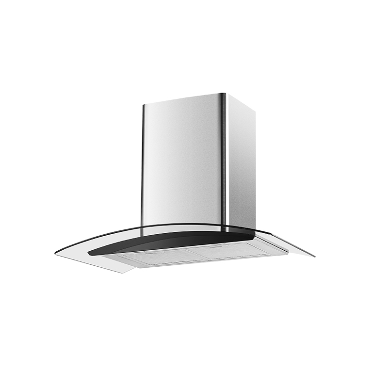 Kingbright Curved Glass Hood 600mm H42